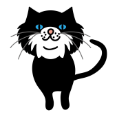 かわいい&ちょっと悪そうな!?猫(ネコ)のイラスト
