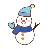 雪だるま イラスト!にっこりスノーマン!