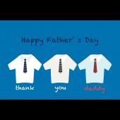 おしゃれなお父さんに♪父の日のグリーティングカード(横)無料 イラスト