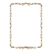 賞状(表彰状)の縦フレームのテンプレートイラスト
