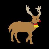 シンプルなトナカイのクリスマス フリー  イラスト