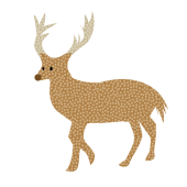 かわいい!トナカイ の おしゃれな 北欧風  無料  イラスト