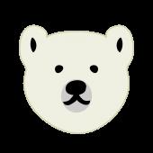 かわいい!しろくま (白熊・シロクマ・白くま)無料 イラスト